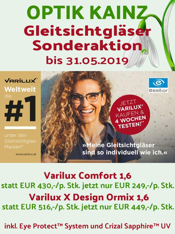 Optik Kainz Horn - Aktion Essilor Varilux - Frühling 2019