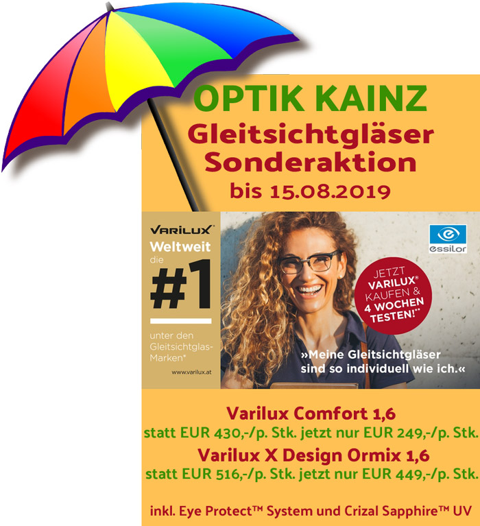 Optik Kainz Horn - Aktion Essilor Varilux - Sommer 2019